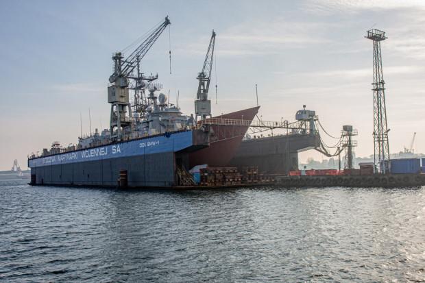 Fregata ORP Kościuszko właśnie przechodzi remont w PGZ Stoczni Wojennej w Gdyni.