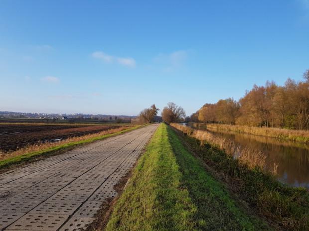 Widok na metropolię Gdańska z końcowego odcinka trasy