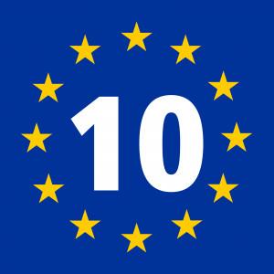 Międzynarodowe oznaczenie Trasy Morza Bałtyckiego (EuroVelo 10), która biegnie przez 9 krajów
