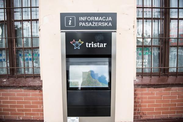 Jeden z 22 elektronicznych punktów informacji pasażerskiej.