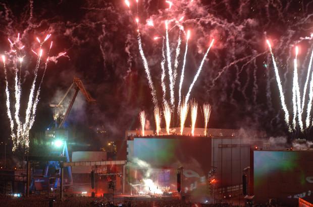 Największy koncert w historii Trójmiasta - Jean-Michel Jarre w Stoczni Gdańskiej w 2005 roku.