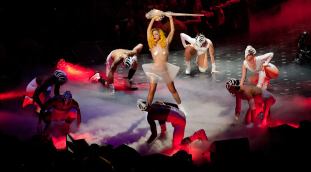 Lady Gaga zagrała w Ergo Arenie w 2010 roku.