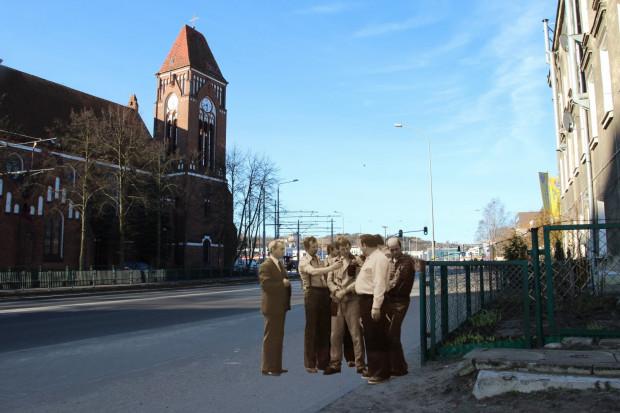 Wizja lokalna na ul. Kartuskiej na Siedlcach, naprzeciwko pętli tramwajowej, gdzie Tuchlin często wypatrywał potencjalnych ofiar.