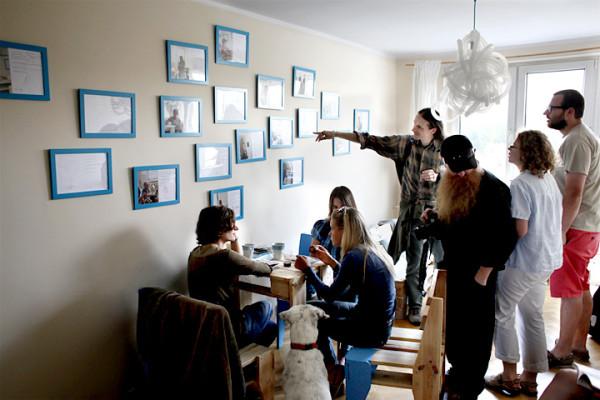 Jedno ze spotkań w ramach projektu Poza Centrum na ulicy Tatrzańskiej.