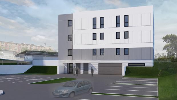 Budynek będzie liczył cztery kondygnacje, z czego najniższa (garaż) będzie częściowo pod ziemią.