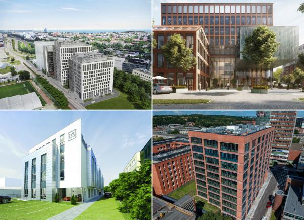Nowe biurowce powstają w różnych lokalizacjach całego Trójmiasta.