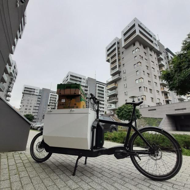 Elektrycznie wspomagany rower typu cargo