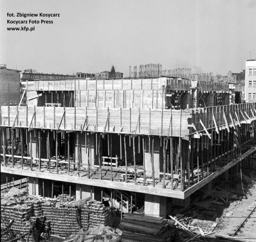 Budowa wieżowca Olimp. Marzec 1967 r.