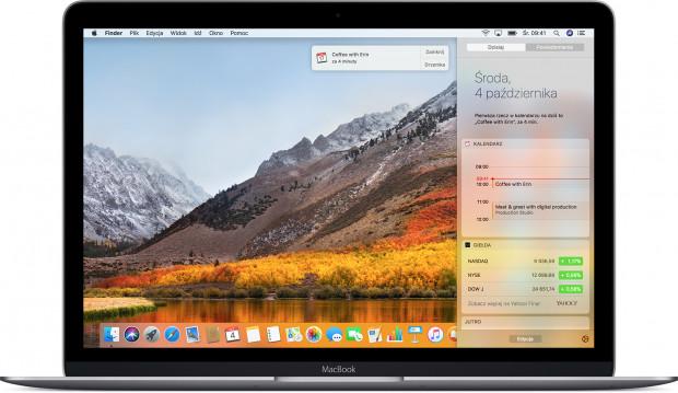 Główny ekran MacOS na MacBooku.