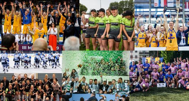 O trójmiejski dorobek medalowy rozgrywkach ligowych dbali zarówno panowie jak i panie. Po sukcesy nasze drużyny sięgały w takich dyscyplinach jak: koszykówka, rugby, piłka nożna, hokej na lodzie oraz unihokej.