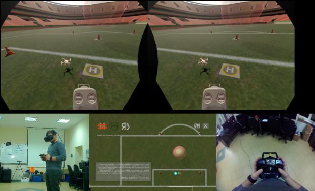 System rzeczywistości wirtualnej obejmuje sprzęt i oprogramowanie, które odzwierciedlają wrażenia sensoryczne odbierane przez kursantów w rzeczywistym świecie.