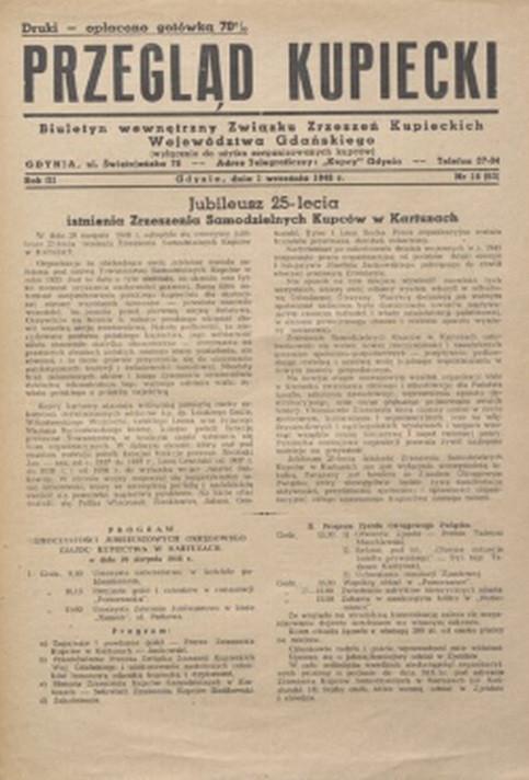 """Miedzy 1948 i 1949 rokiem Zbigniew Herbert redagował dwutygodnik """"Przegląd Kupiecki""""."""
