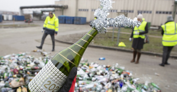 Akcja zbierania butelek w sylwestrową noc w Gdańsku odbyła się już po raz 13.