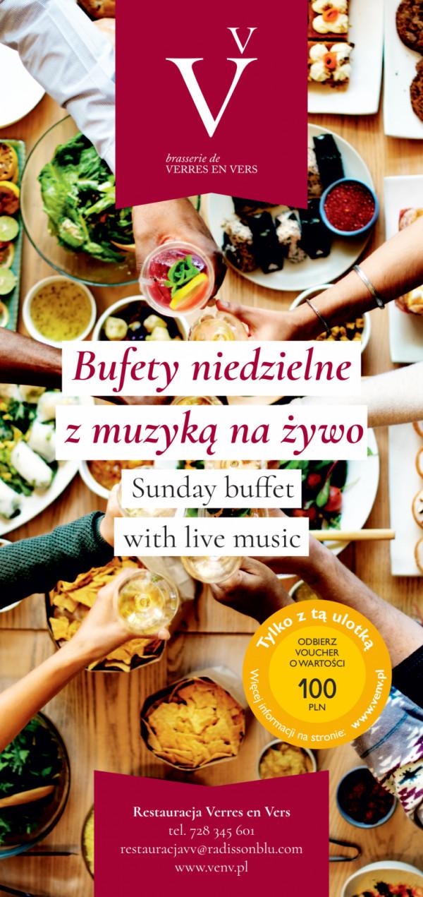 Bufety rodzinne odbywają się w każdą niedzielę w restauracji Verres en Vers.
