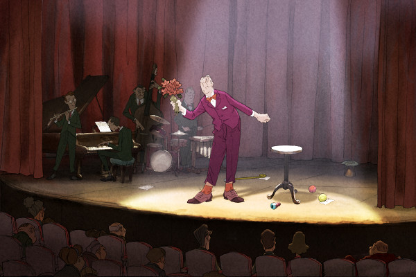 """...przez animacje m.in. francuski film """"Iluzjonista""""..."""