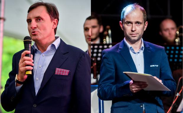 Zarówno prezes Asseco Arki Gdynia Przemysław Sęczkowski (z lewej), jak i prezes Trefla Sopot Marek Wierzbicki (z prawej) nie zapowiadają transferów w najbliższym czasie.