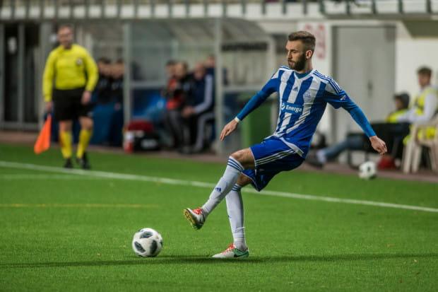 Damian Garbacik w Bałtyku grał jesienią 2018 i był podstawowym obrońcą. Teraz pojawił się w Gdyni po powrocie z Norwegii.