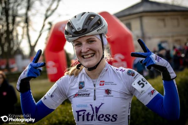 Patrycja Lorkowska zdobyła złoty medal kategorii młodzieżowej w mistrzostwach Polski w kolarstwie przełajowym.