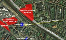 Rejon dworca we Wrzeszczu wraz z planowanymi inwestycjami.