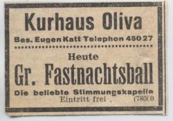 Reklamówka Kurhausu z jednej gdańskich gazet z 1926 roku.