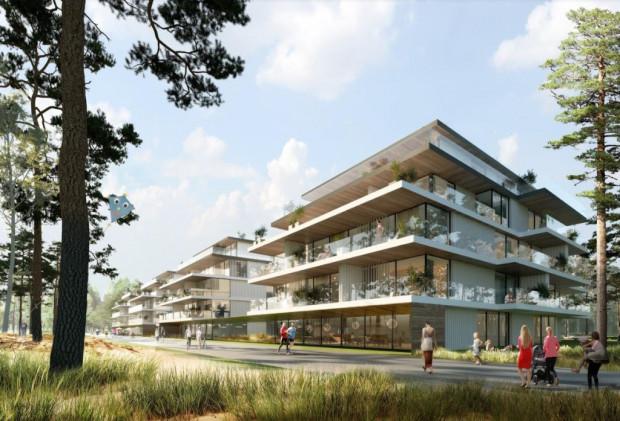 Wstępna wizualizacja nowej zabudowy planowanej przez PB Górski - RWS.