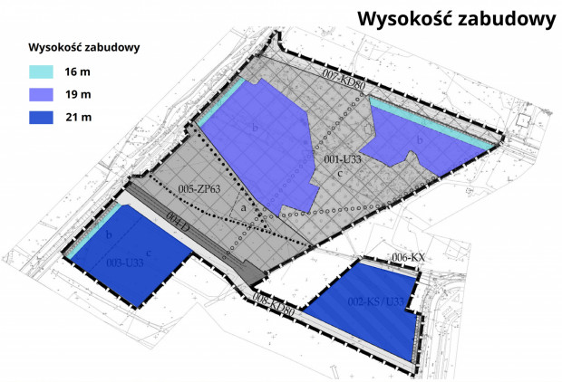 Maksymalna wysokość zabudowy w aktualnym projekcie planu.