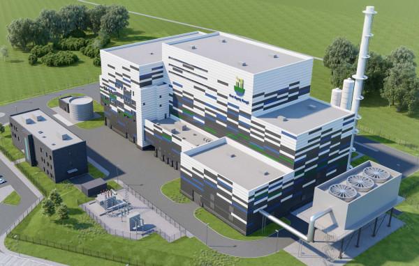 Wizualizacja spalarni, która ma powstać do 2022 r. na terenie Zakładu Utylizacyjnego przy ul. Jabłoniowej.