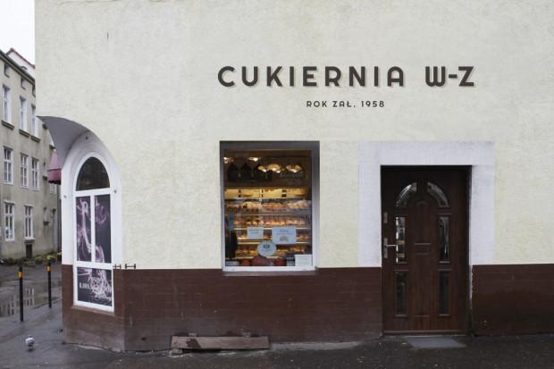 Cukiernia W-Z (ul. Słodowników 1) - propozycja przygotowana w ramach projektu Gdańska Szkoła Szyldu.
