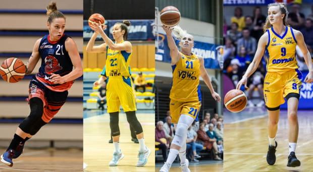 Sylwia Bujniak (pierwsza z lewej, DGT Politechnika GDda) z DGT Politechniki Gdańskiej oraz Amalia Rembiszewska (druga z lewej), Paulina Misiek (druga z prawej) i Kamila Podgórna (wszystkie Arka Gdynia) zostały powołane do reprezentacji Polski.
