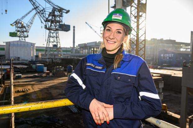 Agnieszka Jakubów zajmuję się logistyką produkcji w stoczni Crist.