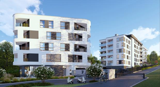 Słowackiego 77. W ramach inwestycji wkomponowanej w niewielką skarpę powstają dwa budynki.