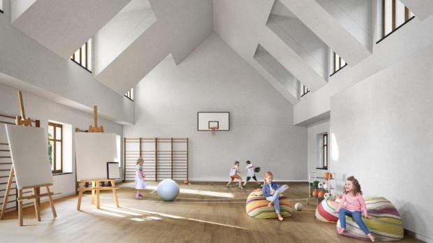 W budynku znajdującym się na terenie po klubie mają znaleźć się przestrzenie sportowe i edukacyjne dla dzieci.