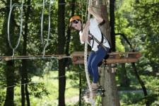 W otoczającym Hanza Pałac lesie znajduje się park linowy: atrakcja nie tylko dla młodzieży.