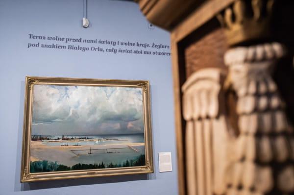 """Należy podkreślić, że """"Puck 10 lutego..."""" to wystawa stricte historyczna. Wśród eksponatów najważniejsze miejsce zajmuje przede wszystkim malarstwo."""