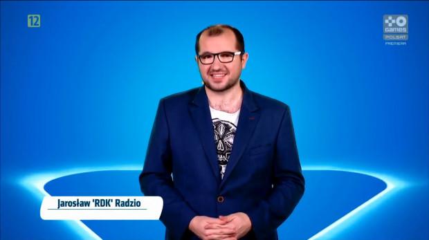 """Jarosław """"Rdk"""" Radzio to również stały ekspert Ekstraklasa Games na antenie Polsat Games."""