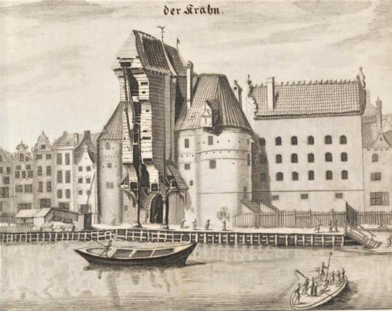 Wielki Żuraw na grafice Reinholda Curicke z 1687 r.