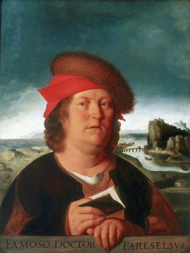 Theophrastus von Hohenheim, czyli Paracelsus na XVII-wiecznym obrazie anonimowego autora.