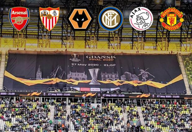 Arsenal, Sevilla, Wolverhampton Wanderers, Inter Mediolan, Ajax Amsterdam i Manchester United to zespoły, które zdaniem bukmacherów mają największe szanse na triumf w finale Ligi Europy, który 27 maja odbędzie się na Stadionie Energa Gdańsk.