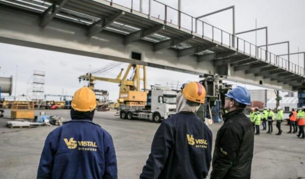 Vistal Gdynia specjalizuje się w konstrukcjach mostowych. Na zdjęciu prace przy moście obrotowym w Göteborgu, w 2015 roku.