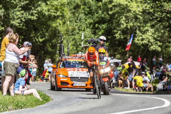 Polska CCC Team podczas Tour de France 2019.
