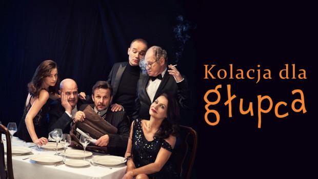 """Spektakl """"Kolacja dla głupca"""" w nowej odsłonie i gwiazdorskiej obsadzie zobaczymy w Scenie Teatralnej NOT 24 marca."""