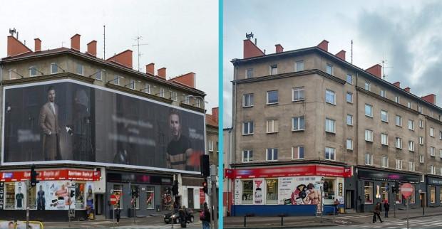 Jeden z nowszych przykładów funkcjonowania uchwały krajobrazowej - budynek przy skrzyżowaniu al. Grunwaldzkiej i Trasy Słowackiego.