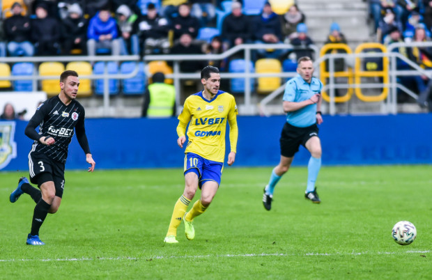 Marko Vejinović strzelił dla Arki Gdynia jedynego gola w meczu z ŁKS Łódź, ale nieoczekiwanie został zmieniony w końcówce spotkania.