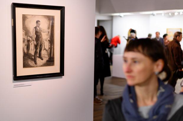 """Na prezentowanej wystawie obejrzymy osiem prac Schulza, w tym m.in słynny """"Autoportret"""", wykonany przez artystę na początku lat 20."""