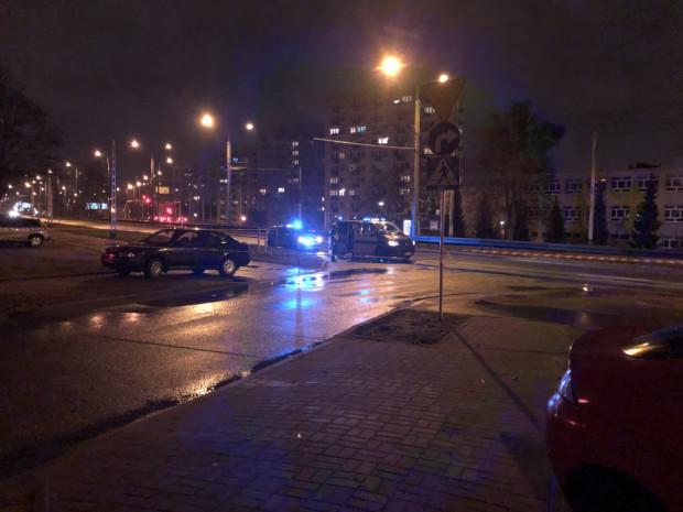 Skutki wypadku na ul. Morskiej.