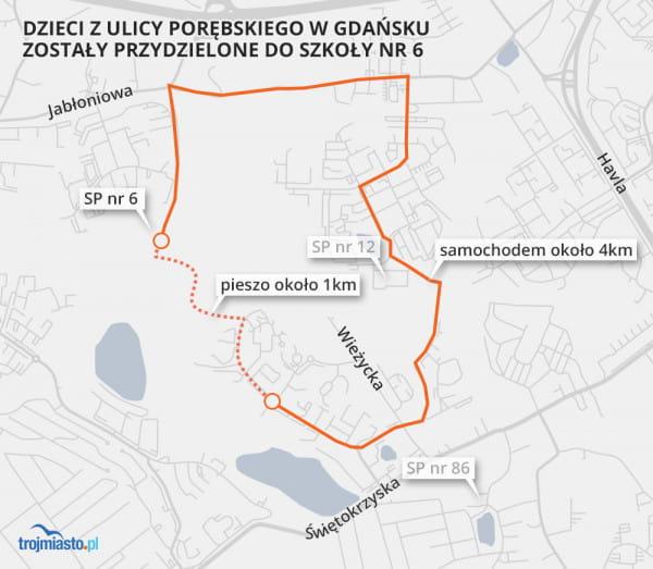 Wątpliwości dot. rejonizacji na południu Gdańska.