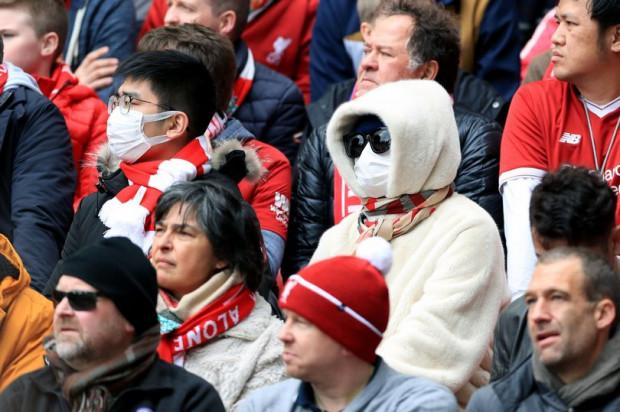 Na meczu Liverpoolu tylko nieliczni Brytyjczycy obawiali się koronawirusa.