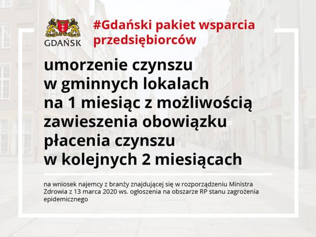 Gdański pakiet wsparcia przedsiębiorców.