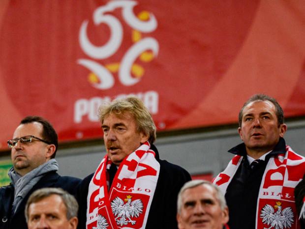 PZPN wesprze kluby finansowo kluby piłkarskiej w dobie kryzysu wywołanego przez koronawirus. Na zdjęciu prezes PZPN Zbigniew Boniek (w środku) i wiceprezes Marek Koźmiński (z prawej).