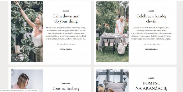 Make home easier to jeden z najpopularniejszych blogów wnętrzarskich.